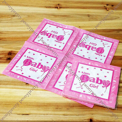 pack of 20 printed paper baby shower napkins 2 ply party reception cake dining