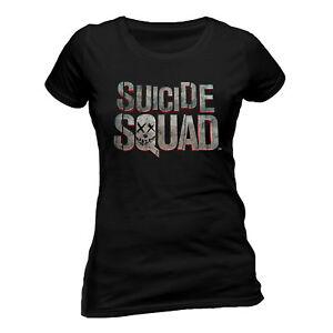Official-Suicide-Squad-Logo-Fitted-T-shirt-Ladies-Black-M-L-XL-XXL