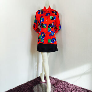 b894c0cafceca0 ESCADA Couture by Margaretha Ley Germany 100% silk red blouse hat ...
