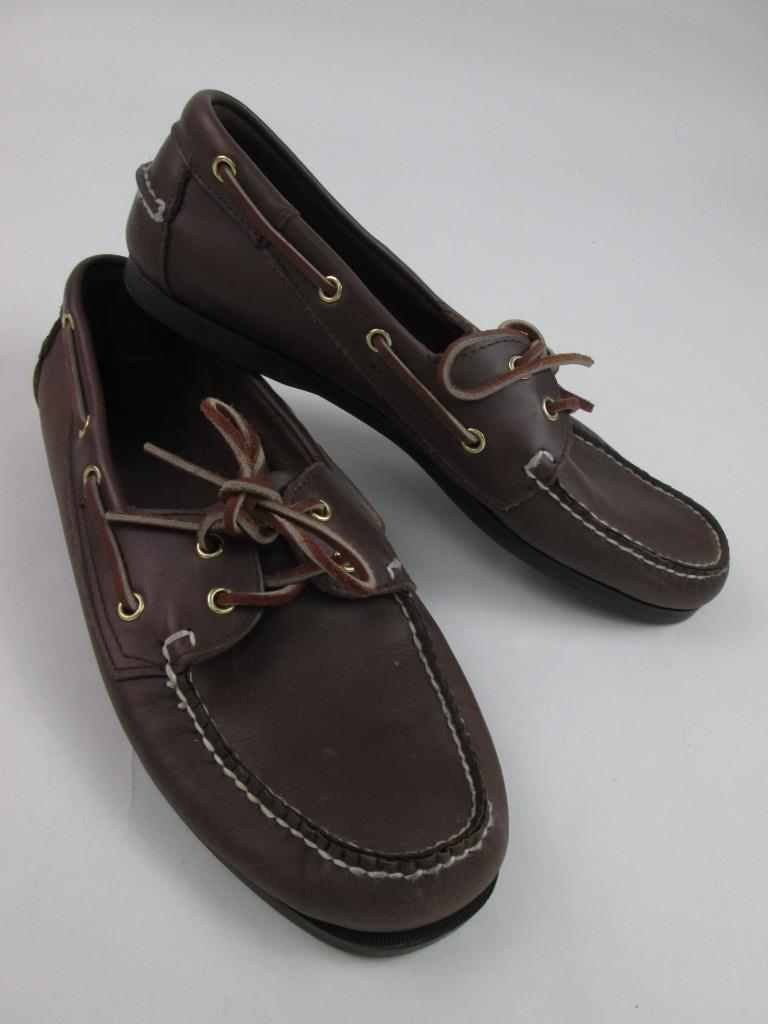 ISLAND SURF DIXON MENS BROWN SOFT LEATHER LOAFERS DRIVER BOAT SHOES 12M EUC