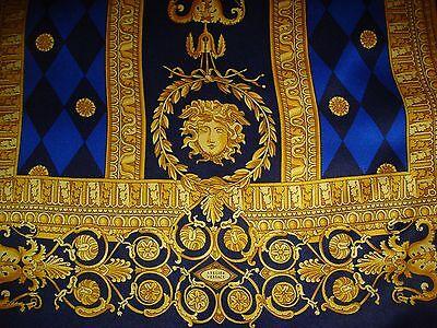 100% Originale Versace + Sciarpa + Scarf + Seta + Lana +180cm X 44 Cm + Silk + Wool + Unisex-scarf+seide+wolle+180cm X 44cm+silk+wool+unisex It-it Design Accattivanti;