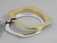 Robert Lee Morris Soho Polished Two Tone Geometric Bangle Bracelet Set $48