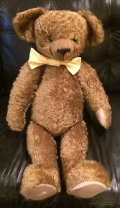 Merrythought Tide-Rider Jointed Mohair Teddy Bear Signed By Oliver Holmes