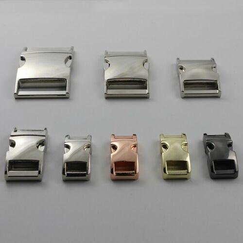 Metal Side Release incurvée Buckles for Paracord Bracelet De Chien Chat Collier À faire soi-même New