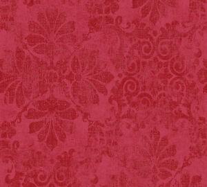 Das Bild Wird Geladen Vliestapete Barock Glitzer As Creation Memory Tapete Rot
