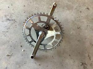 "1960's AMF Roadmaster Bicycle Sprocket/Crankset off 20"" bike"