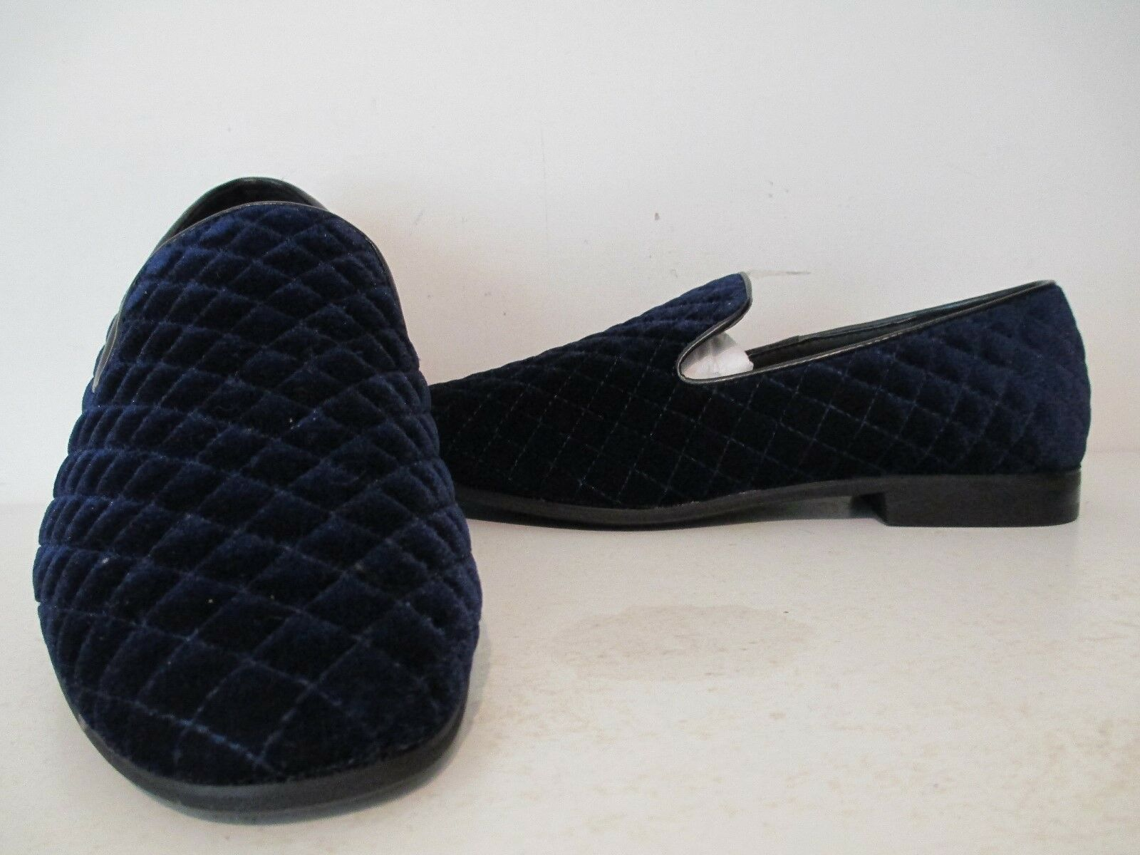 Giorgio Brutini Mens Chatwal 17627 Quilted Fabric Slip On Loafers Navy Size 8 M