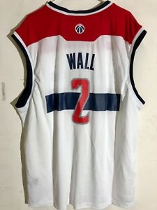 huge discount 37029 45178 Details about Adidas NBA Jersey Washington Wizards John Wall White sz 3X