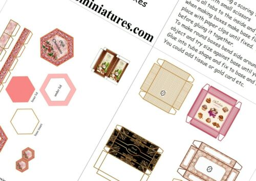 Casa De Muñecas Impreso Kit-selección De Caja De Chocolate No2-Free UK Post