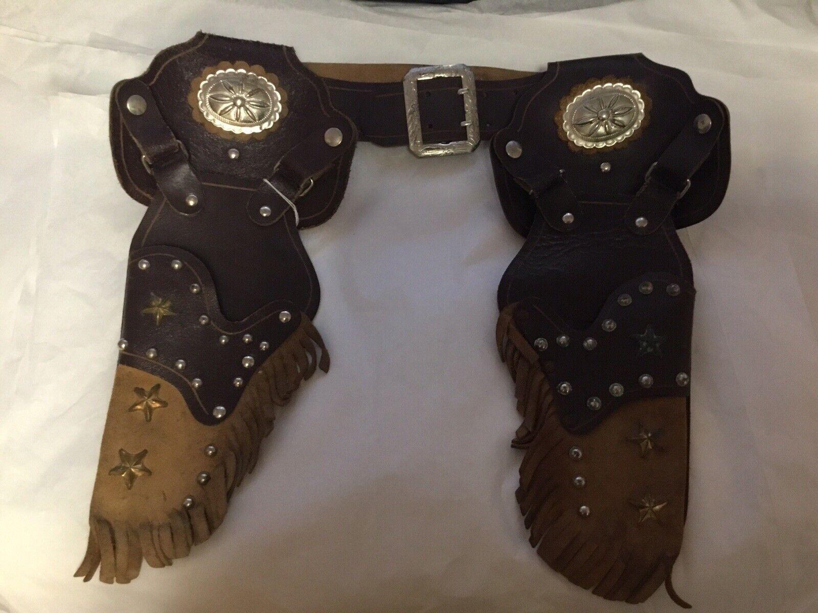 Antigua Coleccionable Fundas De Juguete De Vaquero con Cinturón