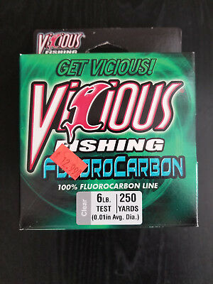 Vicious Fishing Fluorocarbon 6lb 250yd Clear