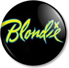 BLONDIE LOGO 1 25mm Pin Button Badge Logo Punk Rock Pop Band Atomic Debbie Harry