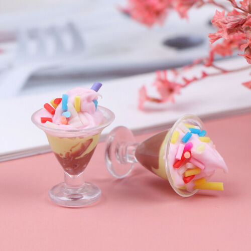 Details about  /1//12 Dollhouse Miniature Food Mini Resin Ice Cream Cups Drinks Model Toys hz