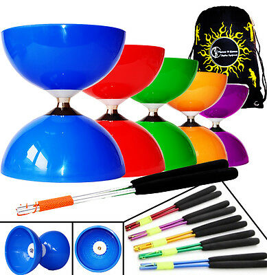 Superglass Grind Diabolo Handsticks /& UV String Coloured Diablo Hand Sticks