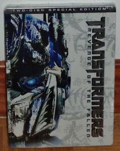 Transformers-die-Rache-der-Caidos-Steelbook-2-DVD-Versiegelt-Neu-Aktion