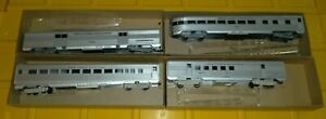Lot-of-4-Athearn-HO-Streamline-Passenger-Cars-New-York-Central-RR-Amazing-NOS