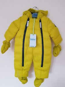 b0e4a5f5014a Ted Baker Baby Boys  LIME SNOWSUIT   Mittens Set   All in one. 0-3 ...