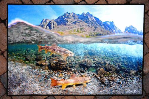 Brown Trout #2 Fish Mat Floor Mat Doormat 24x36 Realfish Inland Series