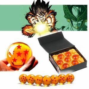 7Pcs-Stars-Dragon-Ball-Z-Boules-de-Cristal-Set-Collection-en-coffret-cadeaux