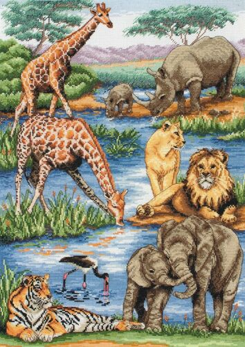 5678000 \ 1212 Anchor Maia-contato CROSS STITCH KIT-AFRICAN WILDLIFE