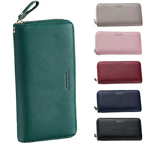 Womens-Purses-Leather-Wallets-Ladies-Long-Zipper-Purse-Wallet-Card-Holder-Top