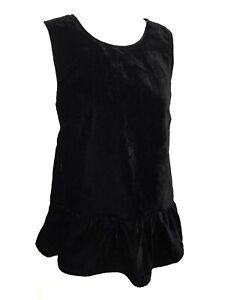 771316dafb99b1 NWT J. Crew Soft Black Velvet Ruffle Hem Tunic Top Tank Shirt Cami ...