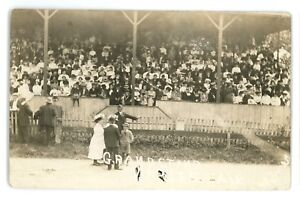 RPPC-Grandstand-Fair-NAPLES-NY-Finger-Lakes-Ontario-County-Real-Photo-Postcard