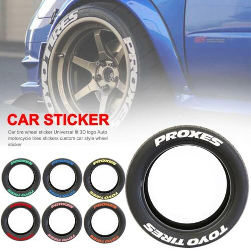 Car Tire Wheel Sticker 3D Logo Auto Motorcycle Tyres Letter Decals Decoration