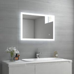 Details zu LED BAD SPIEGEL Touch Badezimmerspiegel mit Beleuchtung  Wandspiegel 50x70 cm