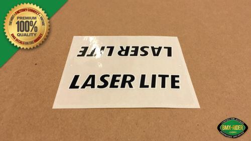 Black 1982-1985 Kuwahara Laserlite BMX Top Tube Decal Sticker