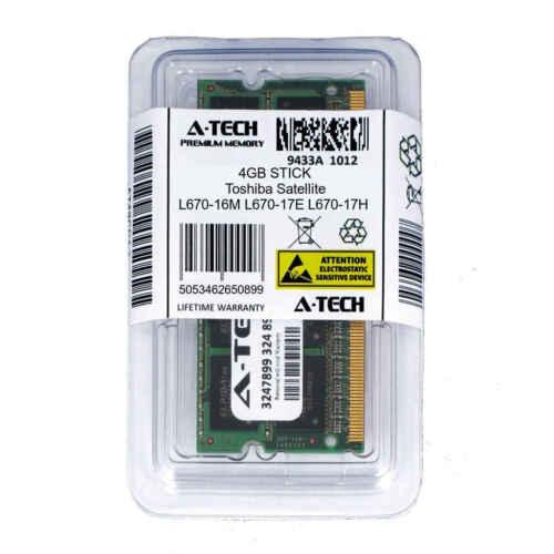 4GB SODIMM Toshiba Satellite L670-16M L670-17E L670-17H PC3-8500 Ram Memory