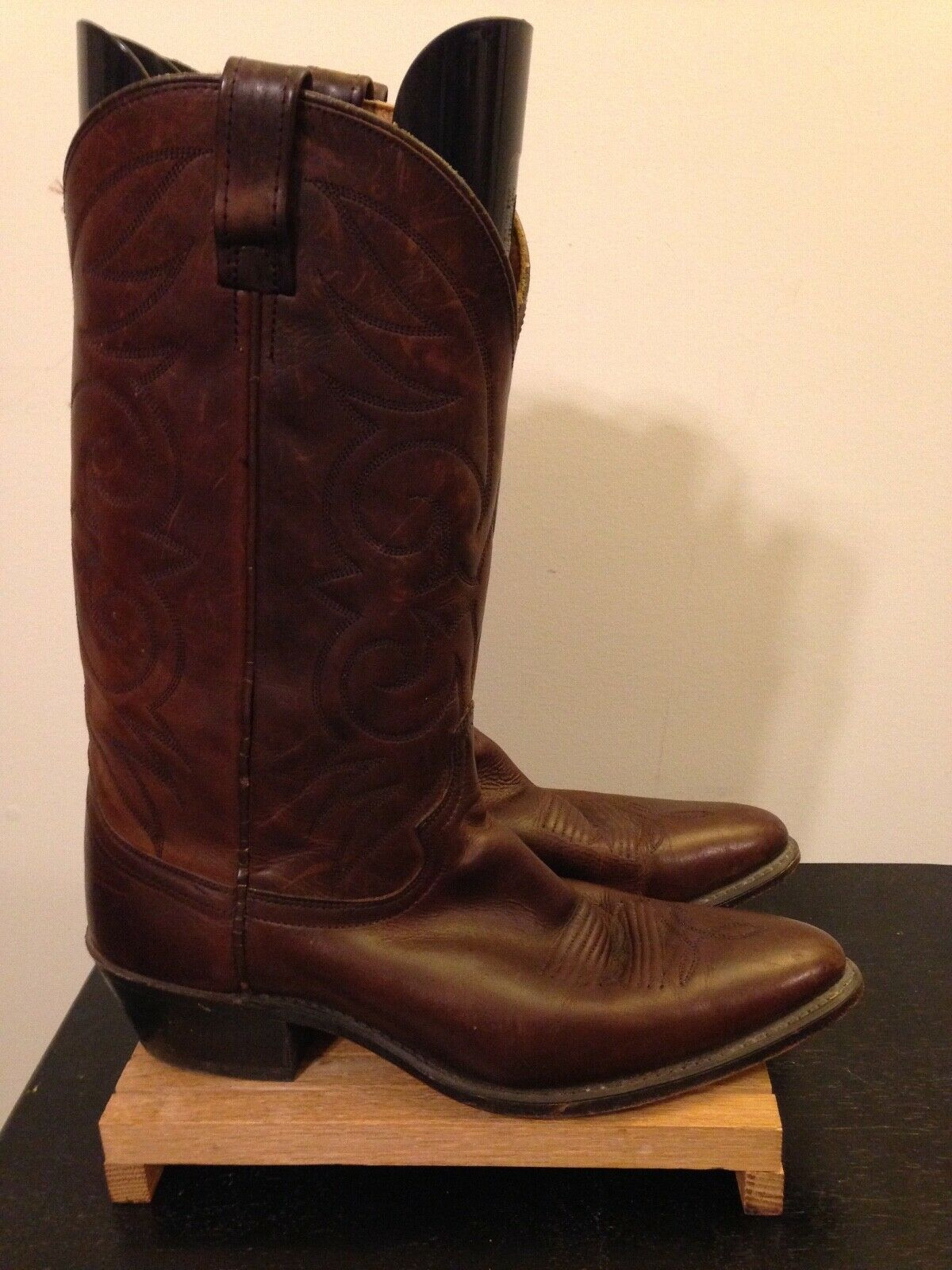 Mens Acme Brown Leather Cowboy Western Boots-11D