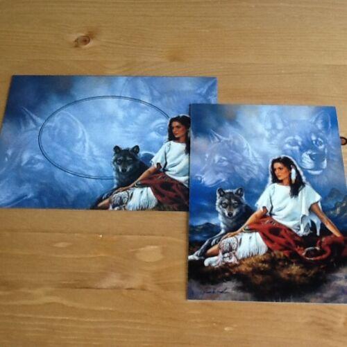 Tree Free Blank voiture Loup Loups Native American thème assorti Enveloppe