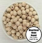 200 x 10mm Round Wood Spacer Bead Natural Unfinished Wooden Beads Ball Teething