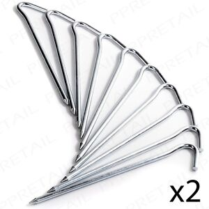 Image is loading 20-x-GALVANISED-METAL-TENT-PEGS-Heavy-Duty-  sc 1 st  eBay : metal tent pegs heavy duty - memphite.com