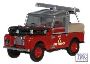 76lan188015-Oxford-Diecast-British-Rail-Land-Rover-88-FIRE-TENDER-1-76-OO-Gauge