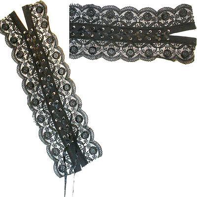 Black Corset Lace Up Panel x 1