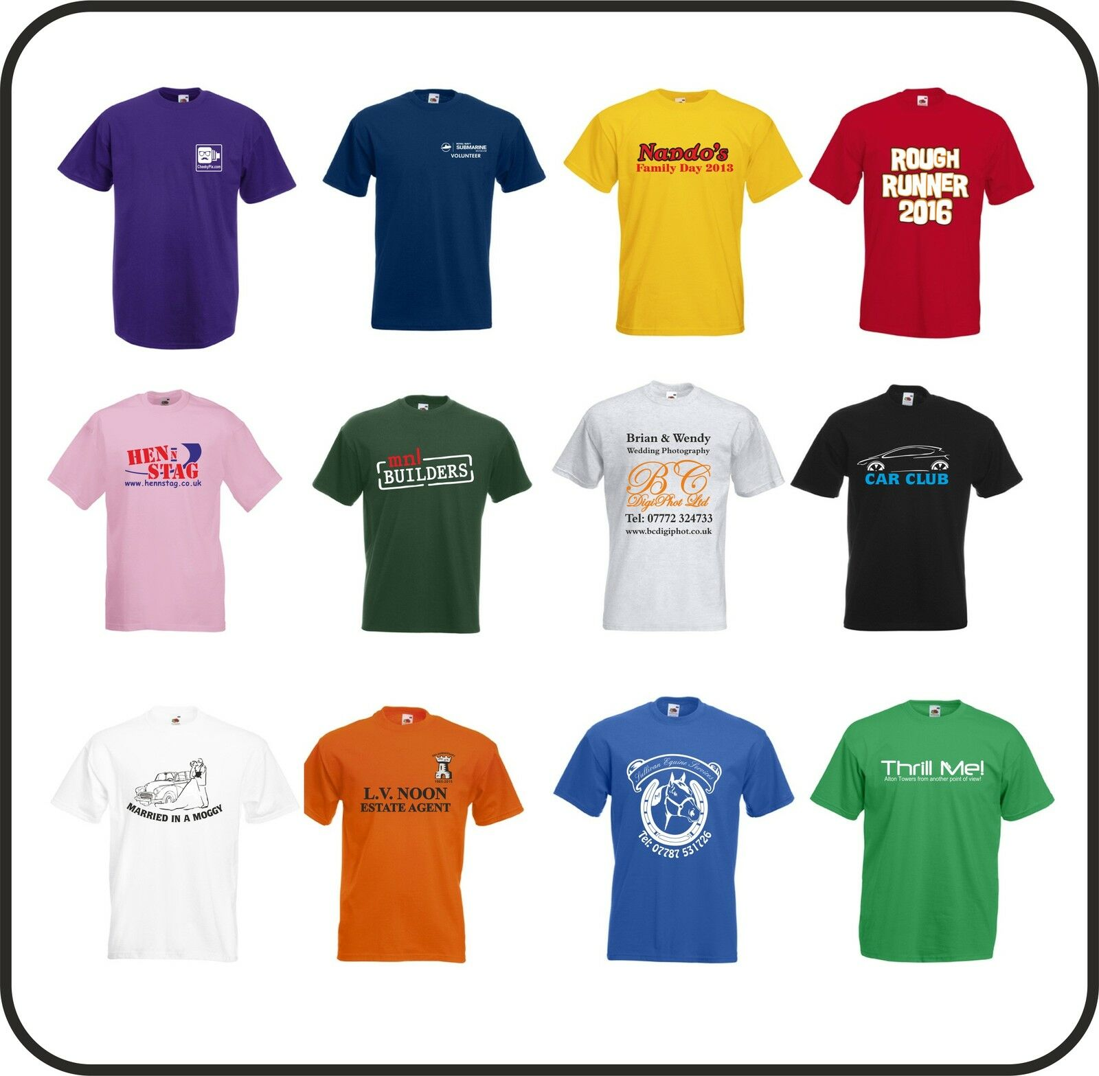 SPECIAL SPECIAL SPECIAL DEAL 12 Printed Personalised T-shirts Stag Holiday Workwear Party 9ebf54