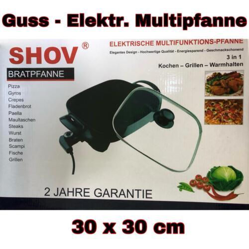 30x30cm Électrique Multi Poêle Pizza Poêle Party Poêle en fonte forme carrée