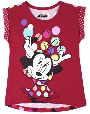 NWT TODDLER GIRL MINNIE MOUSE PRINTED BACK SHIRT SIZE 3T