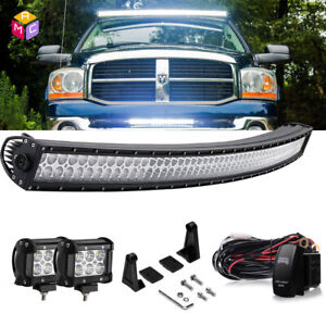 Details About 54 Curved Led Light Bar Upper Windshield Mounting Bracket Fit Dodge Ram 1500