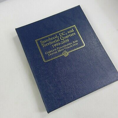 Whitman Coin Album 2821 State DC /& Territories Quarter 1999-2009 P /& D Mints