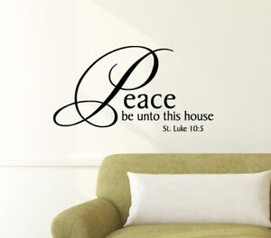 Peace Be Unto This House Wall Sticker Home Quotes Inspirational Love