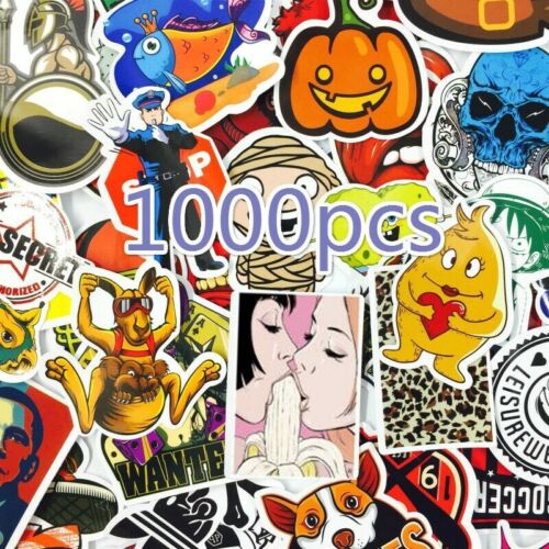 1000 Skateboard Stickers bomb Vinyl Laptop Luggage Decals Dope Sticker Lot cool