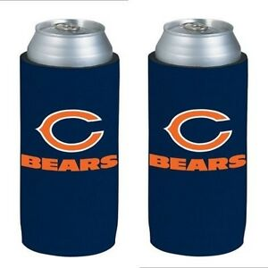 Chicago-Bears-2-Pack-Ultra-Slim-Can-Holder-Skinny-Koozie