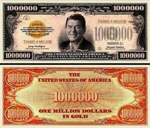 FREE SLEEVE Green Lantern Million Dollar Bill Play Funny Money Novelty Note