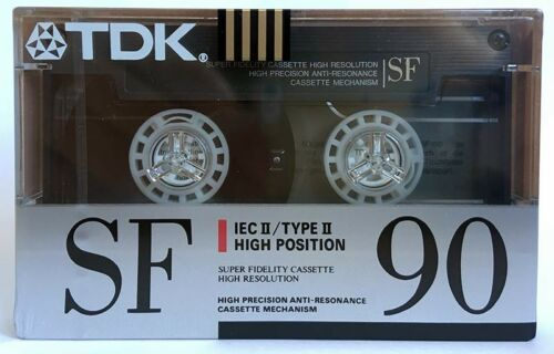 TDK SF 90 BLANK AUDIO CASSETTE TAPE NEW RARE 1990 YEAR MADE IN JAPAN