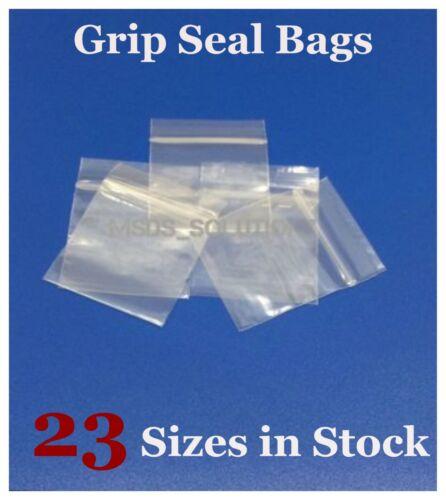 Grip Seal Clear Bags Self auto-adhésive Mini Poly Plastique Sacs à fermeture zip ALLSIZES