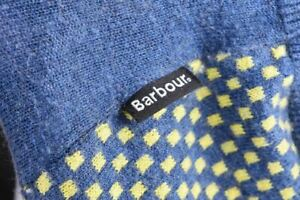 Barbour-Classic-Button-Front-Checked-Cardigan-Jumper-Size-M
