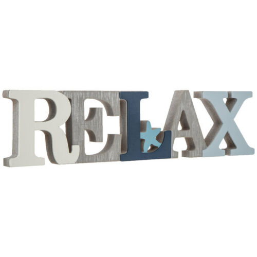 RELAX With Star  COASTAL Wood Home Decor